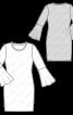 Сукня з в'язаного полотна з воланами на рукавах - фото 3