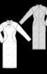 Сукня трикотажна з фігурними рельєфними швами - фото 3