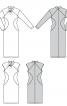 Сукня трикотажна з рельєфними швами і драпіровками - фото 7