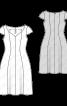Сукня з широким вирізом і спідницею у формі дзвона - фото 3