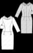 Сукня приталеного крою з оригінальним коміром - фото 3