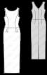 Сукня максі із декольте на спинці - фото 3