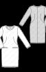 Сукня трикотажна з косими виточками - фото 3