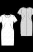 Сукня трикотажна з короткими рукавами - фото 3