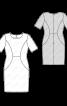 Сукня-футляр з рельєфними деталями - фото 3