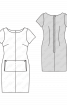 Сукня-футляр з накладною кишенею - фото 3