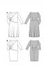 Сукня-футляр трикотажна з широким вирізом горловини - фото 4