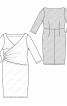 Сукня-футляр трикотажна з широким вирізом горловини - фото 3