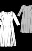 Сукня зі складкою-розрізом на спідниці - фото 3