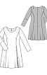 Сукня зі складкою-розрізом на блискавці - фото 3