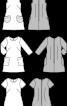 Сукня коротка з накладними кишенями - фото 3