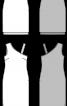 Сукня приталеного силуету з ефектом двошаровості - фото 3