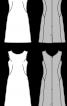 Сукня приталеного силуету з косими виточками - фото 3
