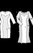 Сукня вечірня з клинами годе - фото 3