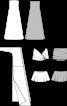 Сукня-бюстьє і накидка з одним рукавом - фото 3