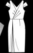 Сукня з V-подібними вирізами горловини - фото 3