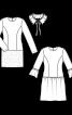 Сукня-футляр трикотажна зі знімним коміром - фото 3
