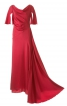 Довга сукня з імітацією шлейфу - фото 2