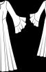 Сукня з рукавами-розтрубами - фото 3