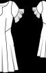 Сукня розкльошена від талії - фото 3