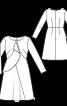 Сукня з рельєфними швами і воланом - фото 3
