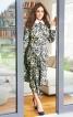 Сукня приталеного силуету з асиметричною вставкою - фото 1