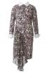 Сукня приталеного силуету з асиметричною вставкою - фото 2