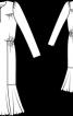 Сукня приталеного крою з воланом - фото 3