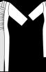 Сукня приталена з асиметричним вирізом горловини - фото 3