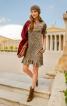 Сукня приталеного силуету з воланами - фото 1