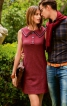 Сукня приталеного силуету зі знімним коміром - фото 1