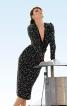 Сукня по фігурі з глибоким V-подібним вирізом - фото 1