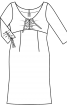 Сукня приталеного крою із зав'язками - фото 3