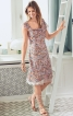 Сукня приталеного крою з ефектом двошаровості - фото 1