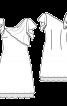 Сукня приталеного крою з ефектом двошаровості - фото 3