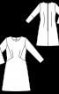 Платье трикотажное А-силуэта с рукавами 7/8 - фото 3