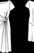 Сукня з драпіровкою на талії - фото 3