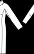 Сукня приталеного силуету з коміром-шарфом - фото 3