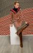 Сукня приталена з рукавами кімоно - фото 1