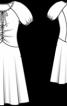Сукня приталеного крою з вирізом-краплинкою - фото 3