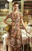 Сукня приталеного крою з вирізом-краплинкою - фото 1