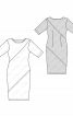 Сукня трикотажна в широку смужку - фото 3