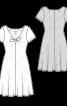 Сукня трикотажна розкльошеного силуету - фото 3