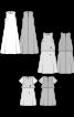Сукня міні розкльошеного силуету з мереживним топом - фото 3