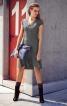 Сукня з округленими рельєфними швами - фото 1