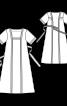 Сукня міді з квадратним вирізом - фото 3