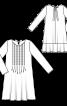 Сукня прямого крою з застроченими складками від горловини - фото 3