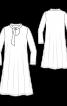 Платье трикотажное с воротником-галстуком - фото 3