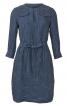 Сукня лляна А-силуету з довгими рукавами - фото 2