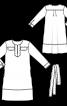 Сукня лляна А-силуету з довгими рукавами - фото 3